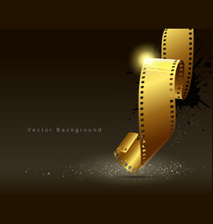 Camera film roll gold color vector