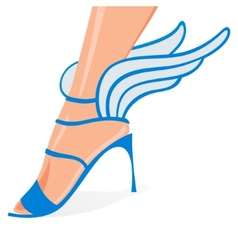 Winged woman shoes vector
