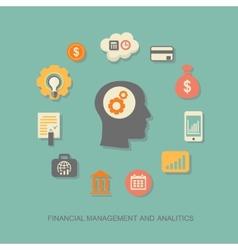 Businessman management analytics business strategy vector