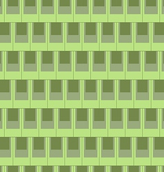 Seamless rectangular tile pattern-green vector