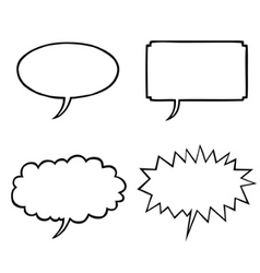 Various speech bubbles vector