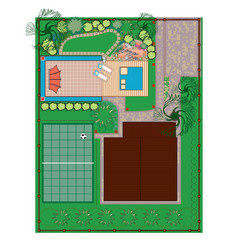Homestead gardening project vector