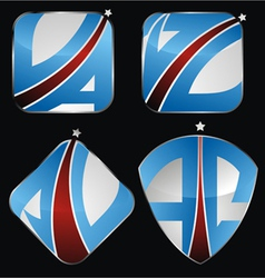 Ac comet icon set vector
