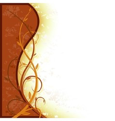 Brown entwined floral vector