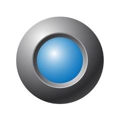 Blue button vector