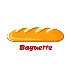 French crispy baguette in cartoon style vector