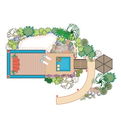 Area for recreation vector