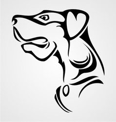 Dog tattoo vector