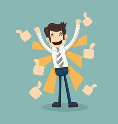 Businessman like thumbs up vector