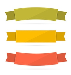 Labels tags ribbons set in retro colors vector