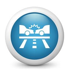 Car crash glossy icon vector