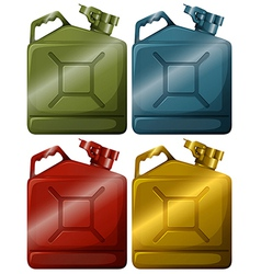 Gasoline containers vector