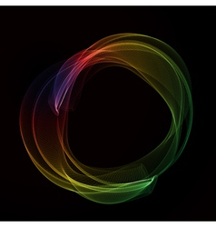 Abstract color smoke circle vector