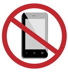 No mobile phone vector