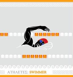 Athlete swimmer vector