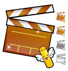 Diverse styles of slate and movie sets vector