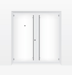 White door vector