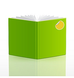Blank open book template vector