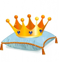 Queens crown on the pillow vector