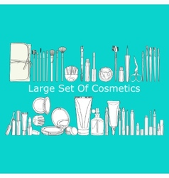 Large set of cosmetics vector