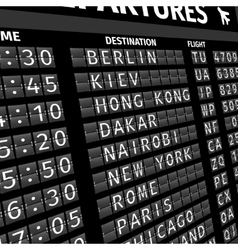 Airport departure board in perspective vector