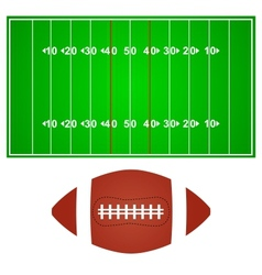 American football field with ball vector