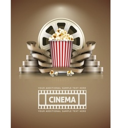 Cinema concept with popcorn vector