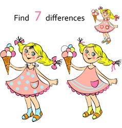 Find differences girl vector