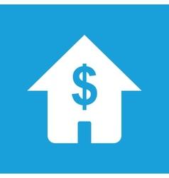 Dollar house white icon vector