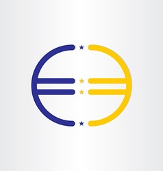 European union euro money line symbol vector
