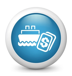 Ship cruise icon vector