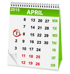 Icon calendar for april 1 vector
