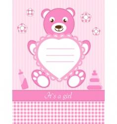 Baby girl shower invitation ca vector