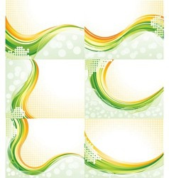 Abstract flowing backgrounds vector