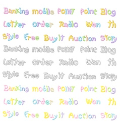 The variety of pastel colors alphabet sets vector