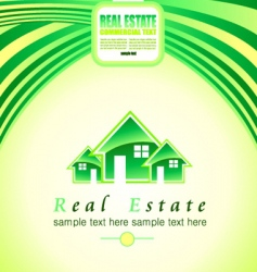 Real estate background vector