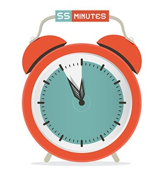 Fifty five minutes stop watch - alarm clock vector