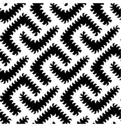 Abstract black white seamless pattern with worms vector