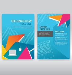 Abstract triangle brochure design template vector