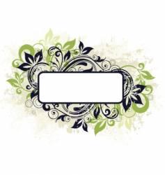 Floral frame banner vector