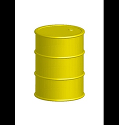 Yellow metal barrel vector