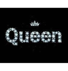 Diamond word queen vector