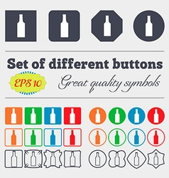 Bottle icon sign big set of colorful diverse vector