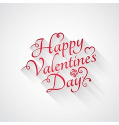 Valentines day vintage retro lettering background vector