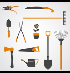 Garden tools icons copy vector
