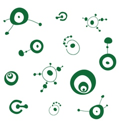 Crop circles pattern vector