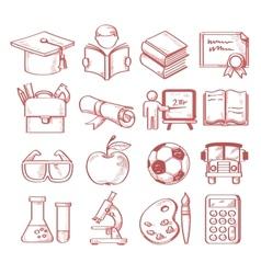 Hand drawn education vector