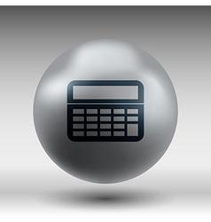 Calculator icon isolated displa mathematics vector