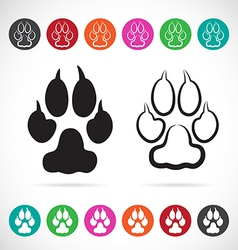 Image of paw print vector