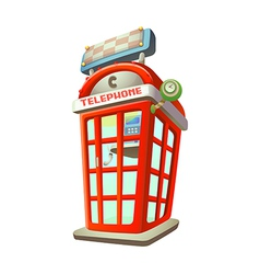 Icon phone booth vector